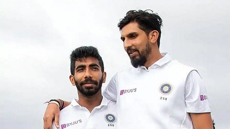 Ishant Sharma (right) and Jasprit Bumrah