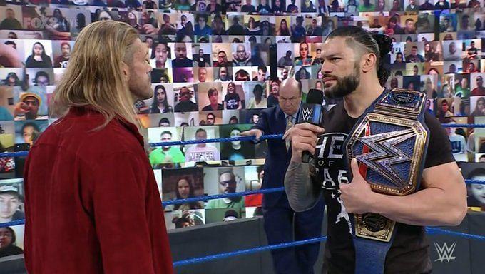 Did Edge acknowledge Roman Reigns?