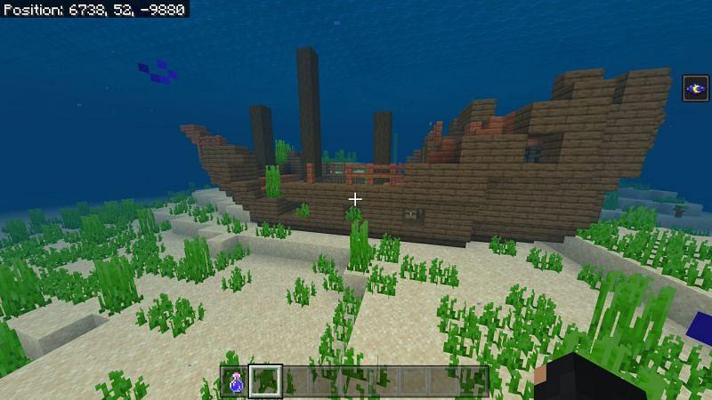 Shipwreck in Minecraft