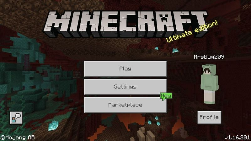 Accessing the marketplace in the game (Image via Minecraft)