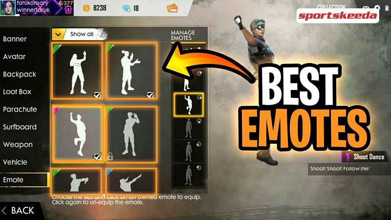Emotes reflect the positive vibes of the game (Image via Sportskeeda)
