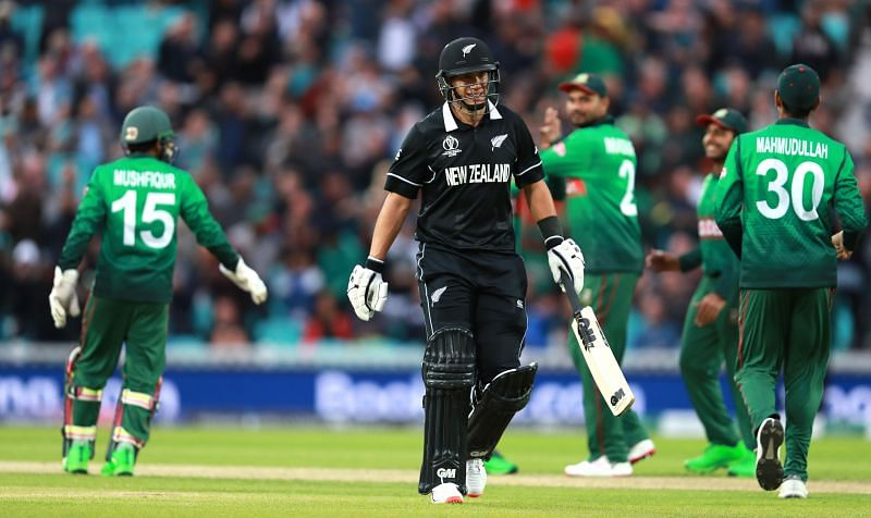 Action from a Bangladesh v New Zealand encounter.