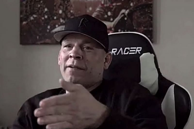 Nate Diaz during his interview with Ariel Helwani. (Image credit: ESPN MMA on YouTube)