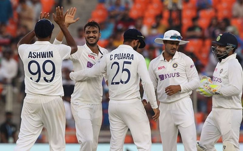 Axar Patel has scalped 13 wickets at a strike-rate of 28.77 across three Test innings so far [Credits: BCCI]
