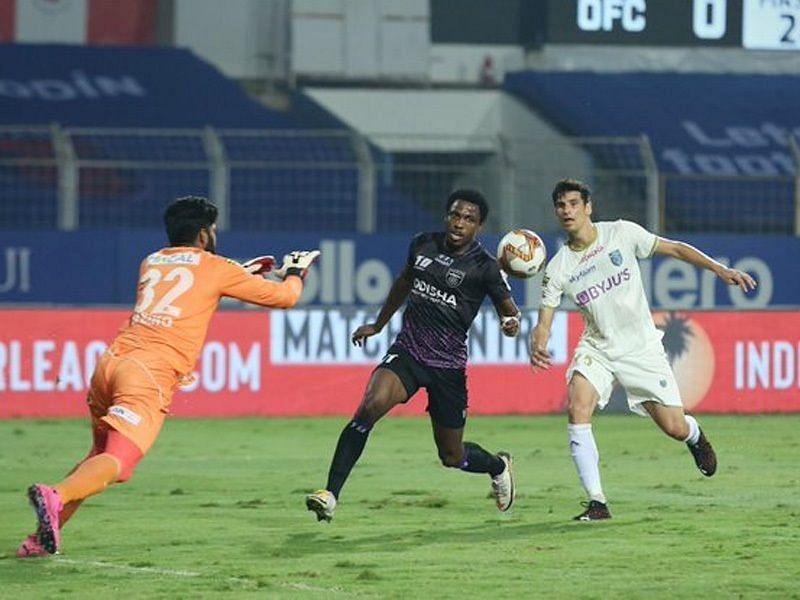 केरला ब्लास्टर्स बनाम ओडिशा एफसी मैच का दृश्य