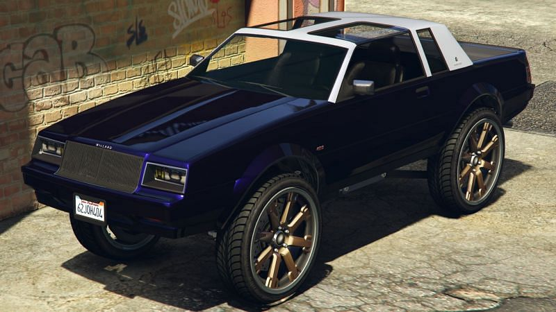 The Custom Donk has the most ground clearance than any other off-road vehicle in GTA Online (Image via GTA Wiki Fandom)