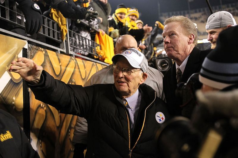 Dan Rooney, Pittsburgh Steelers Executive from 1969 to 2016. Photo: Ronald Martinez/Getty Images.