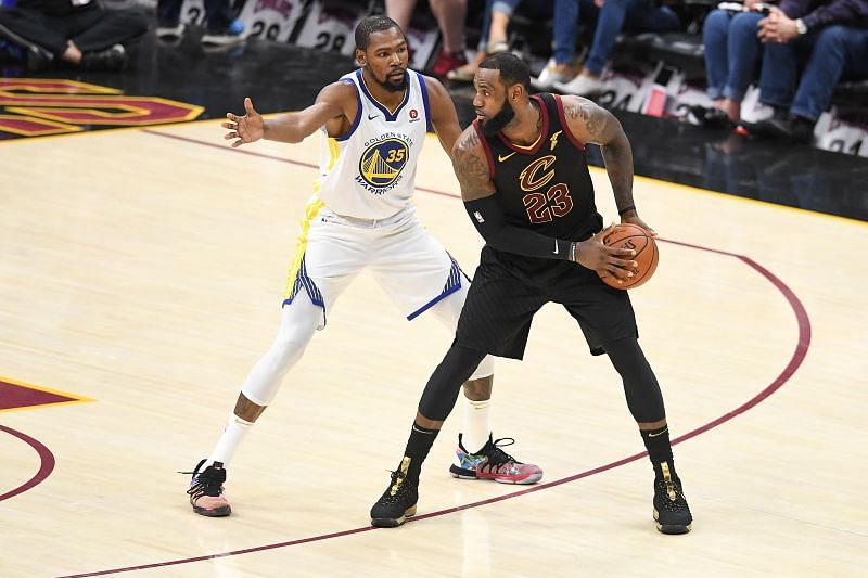 LeBron James and Kevin Durant face off in the 2018 Finals