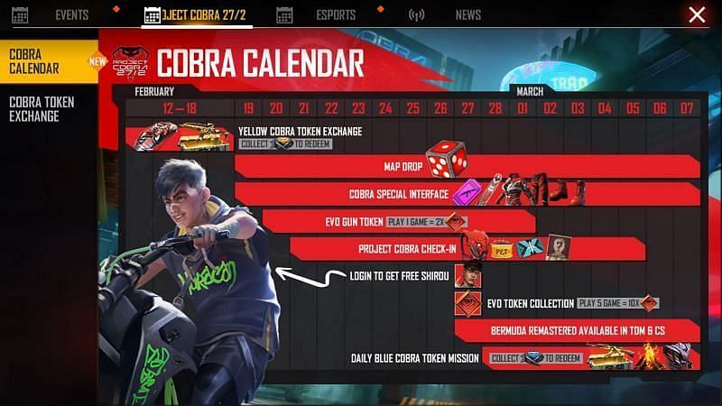 Cobra Calendar