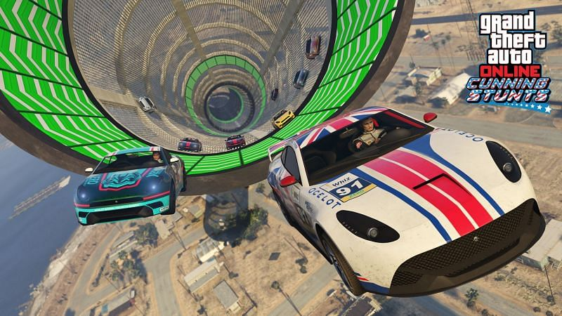 Stunt Races are perhaps the most boundary-pushing races in GTA Online (Image via Rockstar Games)