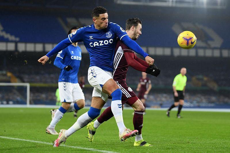 Ben Godfrey in action for Everton