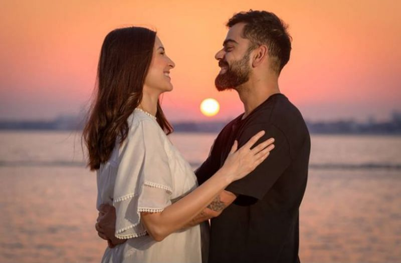 Anushka Sharma (left) and Virat Kohli (right)