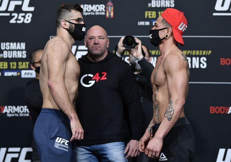 UFC 258 Usman v Burns: Weigh-Ins