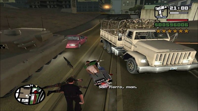 Some players hate the Wanted Level system for limiting their carnage in GTA (Image via Crazy4Games, YouTube)