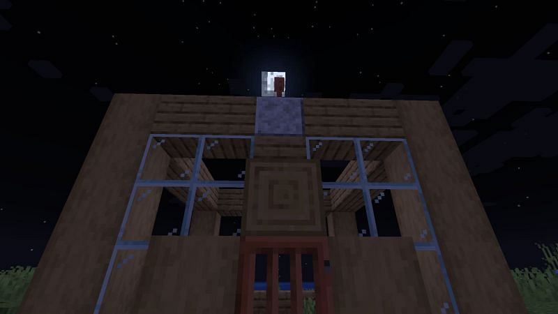 A lightning rod in Minecraft (Image via Minecraft)