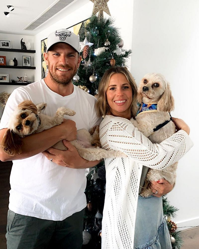 Aaron Finch and his wife
