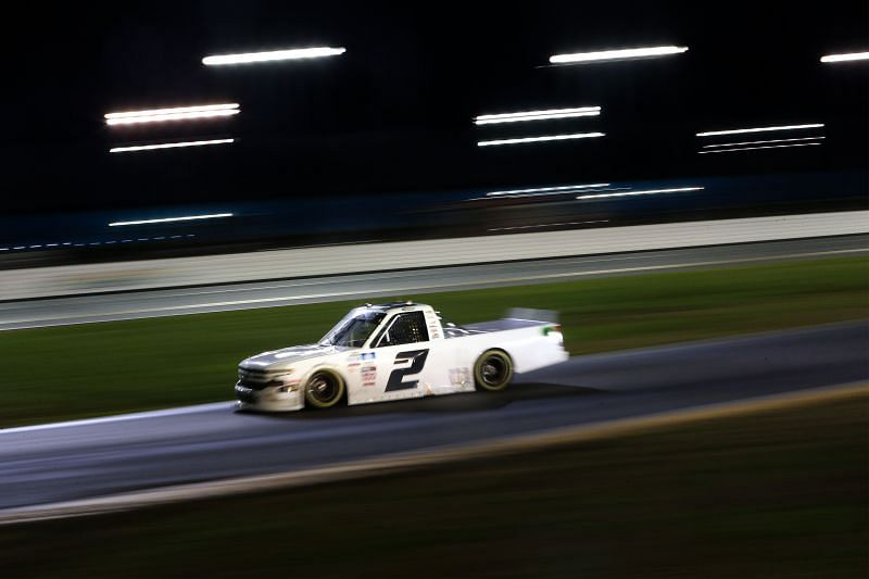 Sheldon Creed in action during the NASCAR Camping World Truck Series race at Daytona Road Course, Feb. 19, 2021. Photo: Getty Images