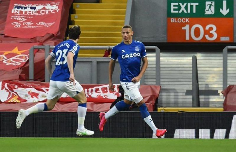 Richarlison fired Everton ahead after only three minutes.