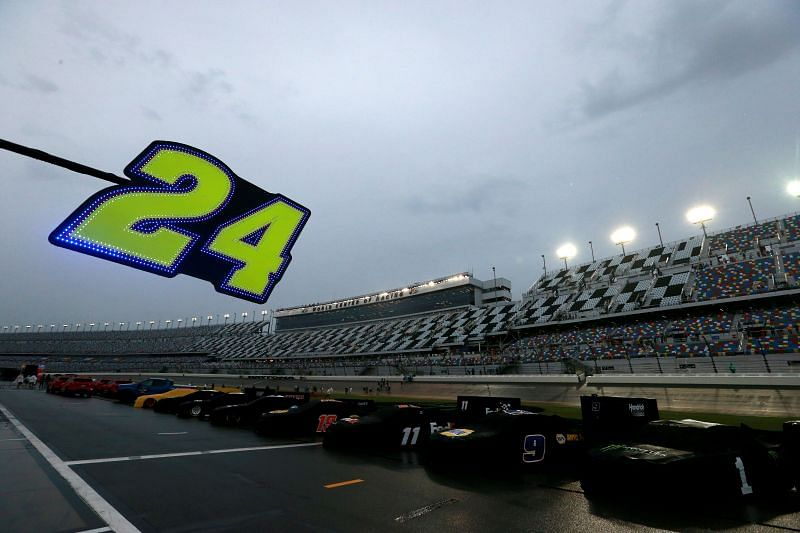 Rain halted second practice for the 2021 Daytona 500. Photo: Sean Gardner/Getty Images