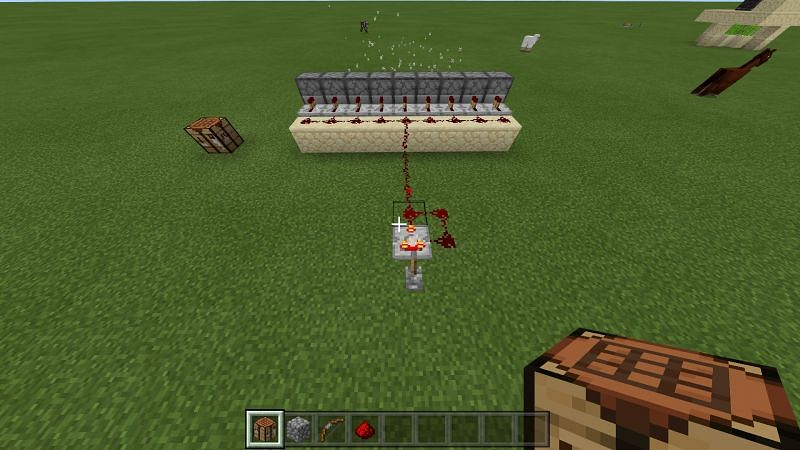 dispenser with a redstone pulse