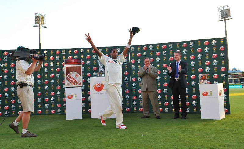 Makhaya Ntini played his 100th Test against England..