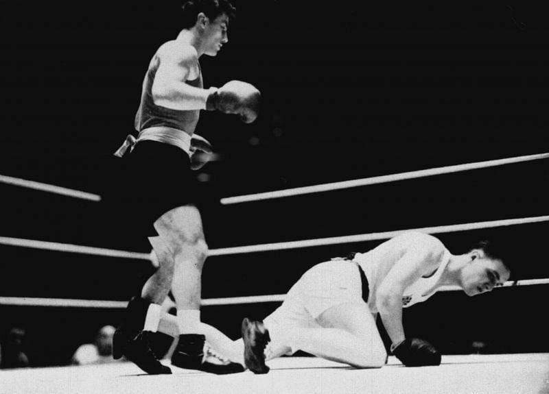 Laszlo Papp in action Teofilo Stevenson Cuban Boxing Great Felix Savon