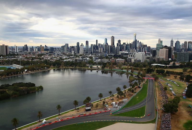 Turns 9 & 10 at Albert Park, Melbourne. (Photo by Clive Mason/Getty Images)