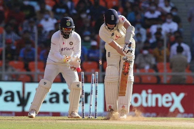 Action from the third Test in Ahmedabad. Pic Courtesy: BCCI