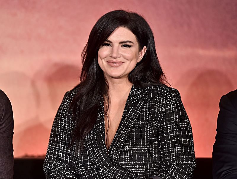 Gina Carano at a Press Conference for the Disney+ Exclusive Series The Mandalorian