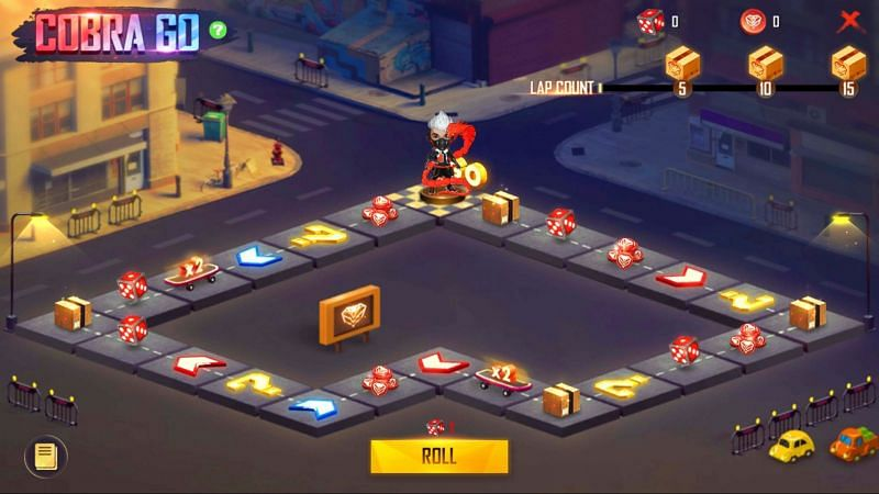 Players have to roll the dice to collect the Cobra Coins