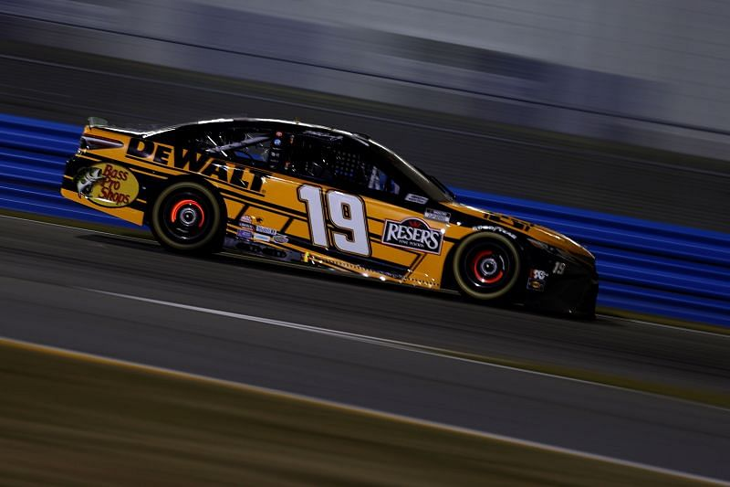 Martin Truex Jr. had a positive run go bad at the 2021 Busch Clash. Image courtesy: Get