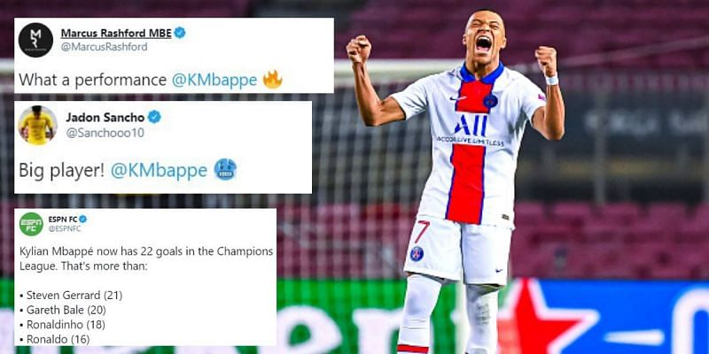 Kylian Mbappe stole the show with a stunning hat-trick at the Camp Nou