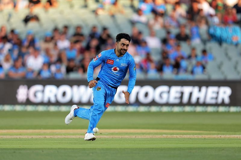 Rashid Khan in action during the BBL.
