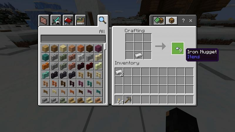 Crafting Iron Nuggets
