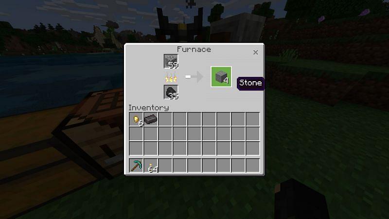 Crafting stone in Minecraft