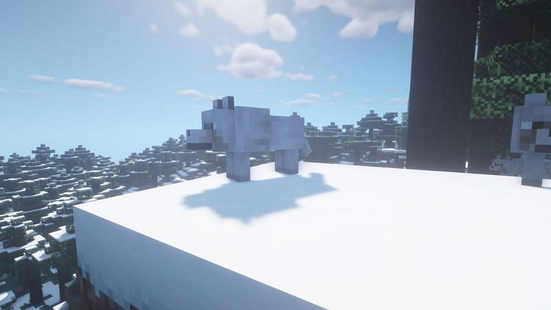 A wolf and its pack (Image via Minecraft)