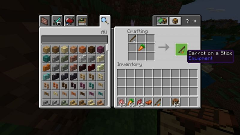 Crafting carrot and a stick