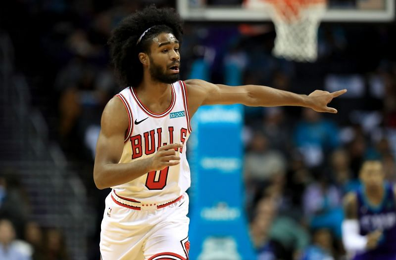 Coby White #0 of the Chicago Bulls