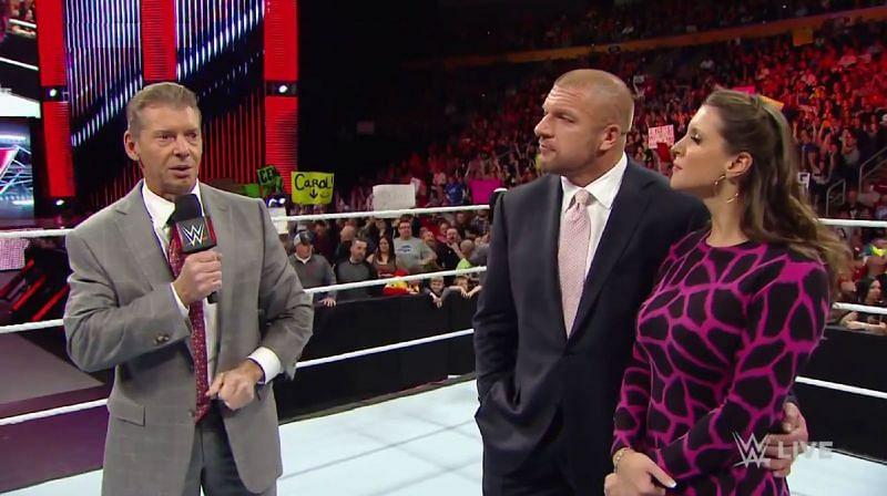Vince McMahon; Triple H; Stephanie McMahon