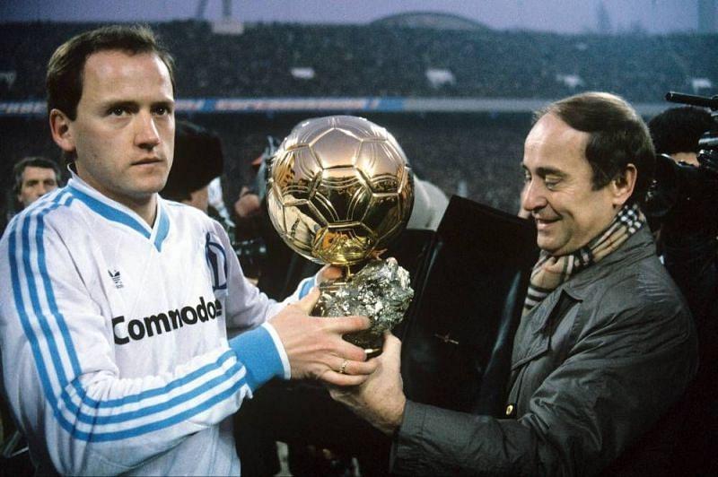 Igor Bellanov (left) was a controversial winner of the 1986 Ballon d