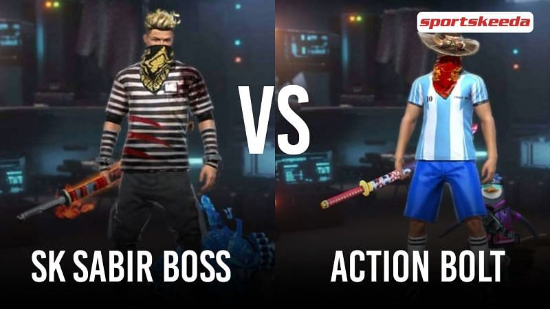Garena Free Fire: SK Sabir Boss vs Action Bolt (Image via Sportskeeda)