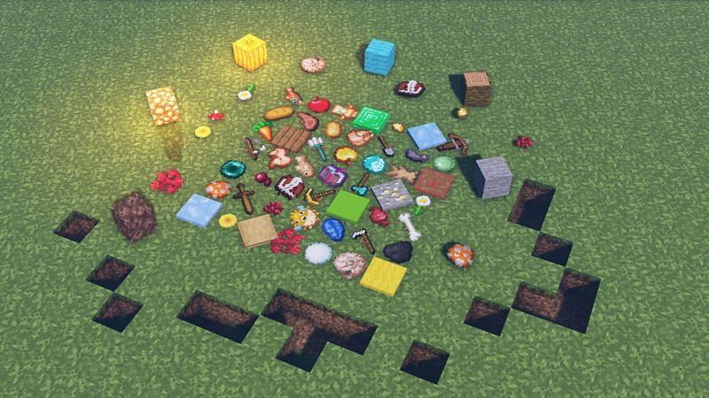 Tons of different Minecraft items (Image via Minecraft)