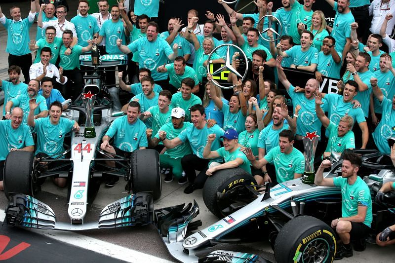 Mercedes have the most front-row lockouts in Formula 1 history.