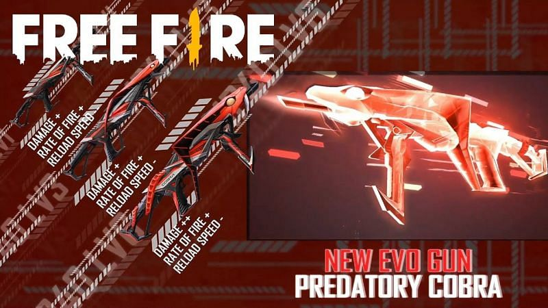 Free Fire has announced the arrival of the 4th Evo gun, called MP40 Predatory Cobra, to the game (Image via Free Fire / YouTube)