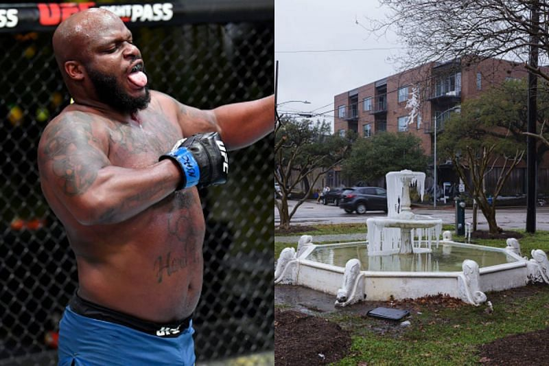 Derrick Lewis commented on the drastic cold weather of Houston, Texas