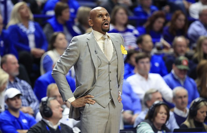 Jerry Stackhouse, the head coach of the Vanderbilt Commodores