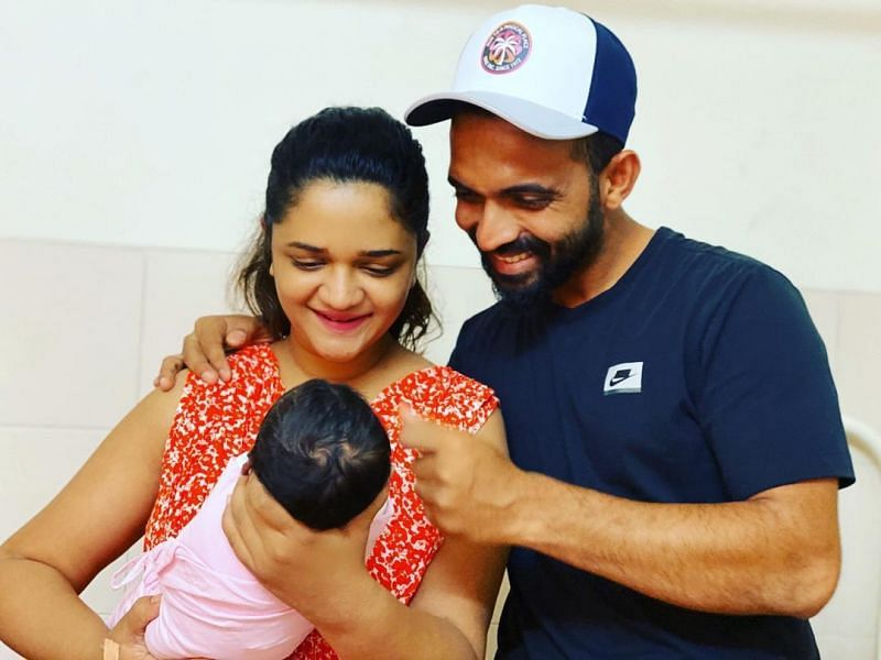 Ajinkya Rahane and his wife