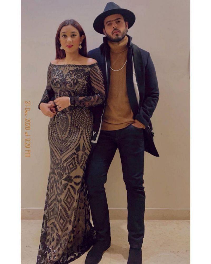 Nitish Rana and his wife