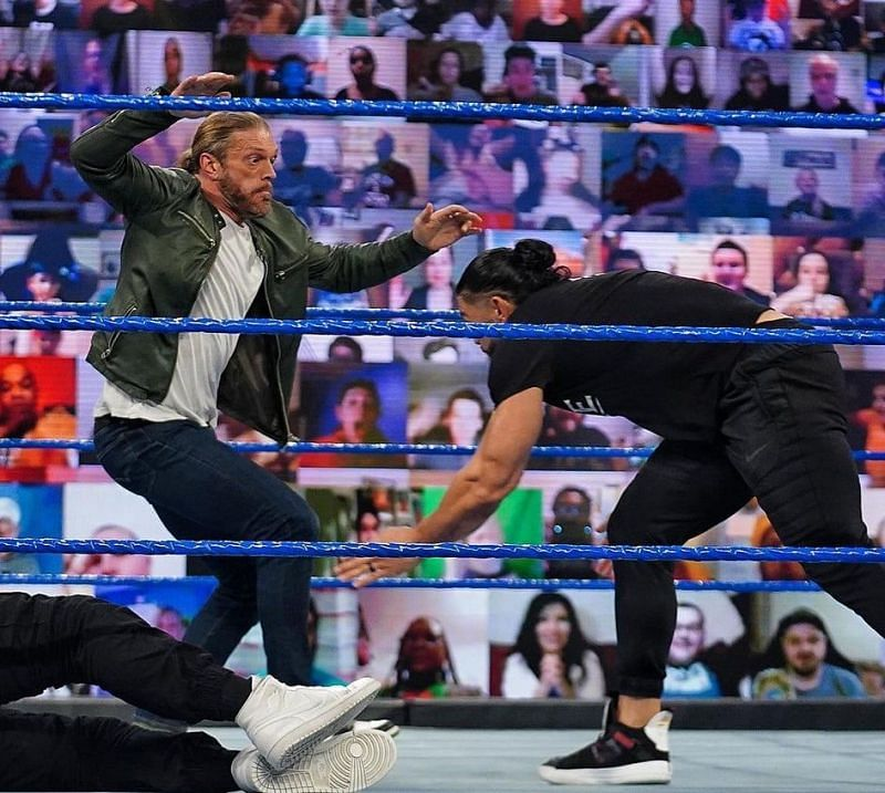 रोमन रेंस ने ऐज को WWE SmackDown में दिया था स्पीयर