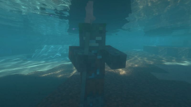 Trident Drowned (Image via Minecraft)